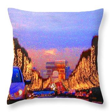 Paris 04 Throw Pillow by Yuriy  Shevchuk
