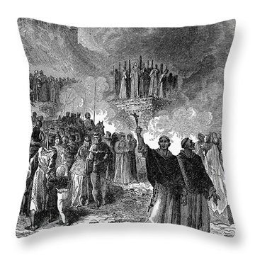 Paris: Burning Of Heretics Throw Pillow by Granger