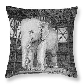 Paris: Elephant Monument Throw Pillow by Granger