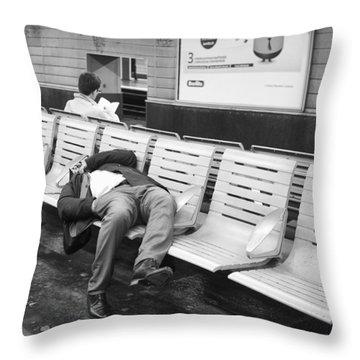 Throw Pillow featuring the photograph Paris Metro by Hugh Smith