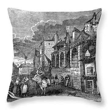 Paris: Street, 1830s Throw Pillow by Granger