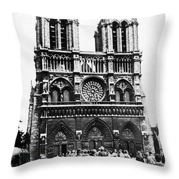 Paris: World War II, 1940 Throw Pillow by Granger
