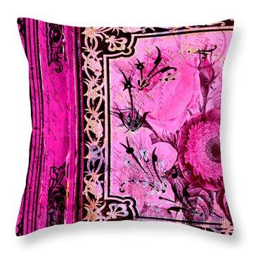 Parisian Memories Throw Pillow by Bonnie Bruno