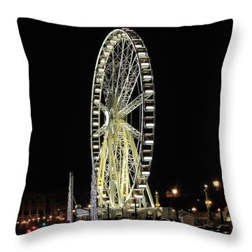 Parisian Night Throw Pillow