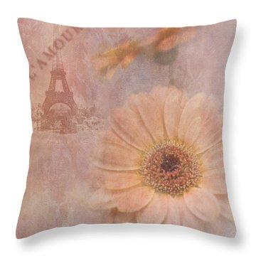 Parisian Oooo La La Throw Pillow by Betty LaRue