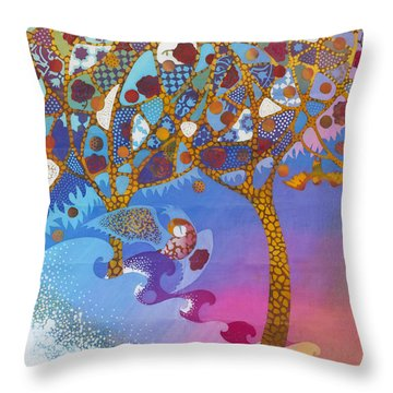 Park Guell. General Impression. Throw Pillow by Kate Krivoshey