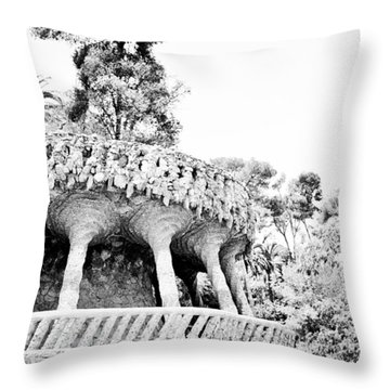 Park Guell Twists Throw Pillow