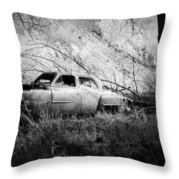 Park In The Trees  Throw Pillow by Empty Wall