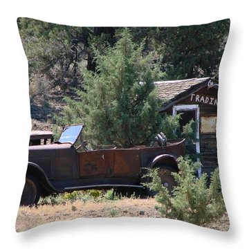 Throw Pillow featuring the photograph Parked At The Trading Post by Athena Mckinzie