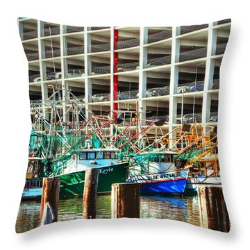 Parked Throw Pillow by Barry Jones