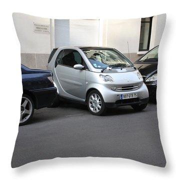 Parking In Paris Throw Pillow