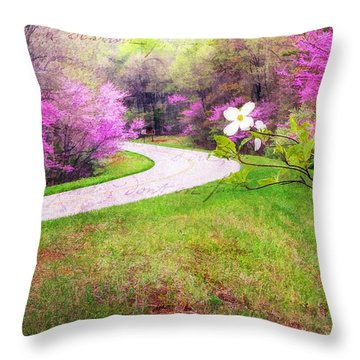 Parkway Kind Of Spring Throw Pillow by Darren Fisher