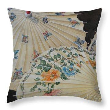 Parosol Parade Sold  Throw Pillow