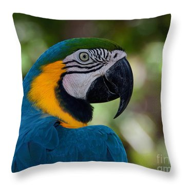 Throw Pillow featuring the photograph Parrot Head by Art Whitton