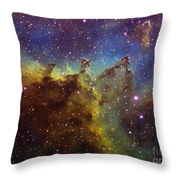Part Of The Ic1805 Heart Nebula Throw Pillow by Filipe Alves