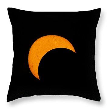 Partial Solar Eclipse Of 2012 Throw Pillow by Phillip Jones