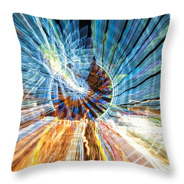 Particle Accelerator With Angel Throw Pillow