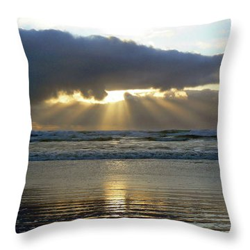 Parting The Heavens Throw Pillow by Pamela Patch