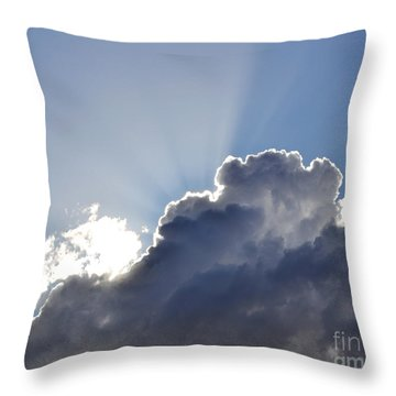 Partly Cloudy Throw Pillow by Rebecca Margraf