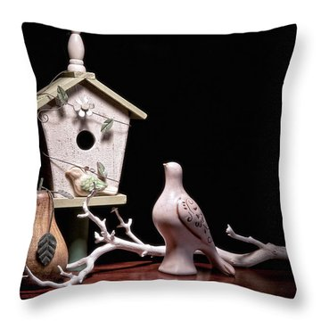 Partridge And A Pear Tree Throw Pillow