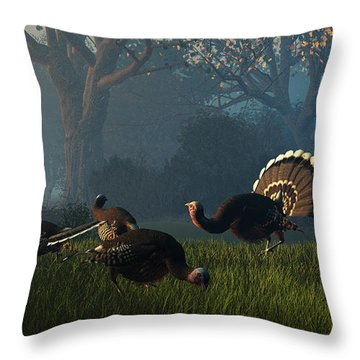 Party Of Four Throw Pillow