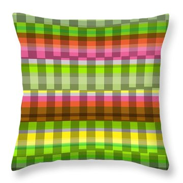 Party Stripe Throw Pillow by Louisa Knight