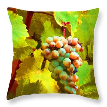 Paschke Grapes Throw Pillow