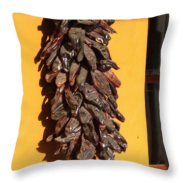 Paso Peppers Throw Pillow