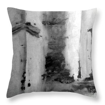 Throw Pillow featuring the painting Passages by Fred Wilson
