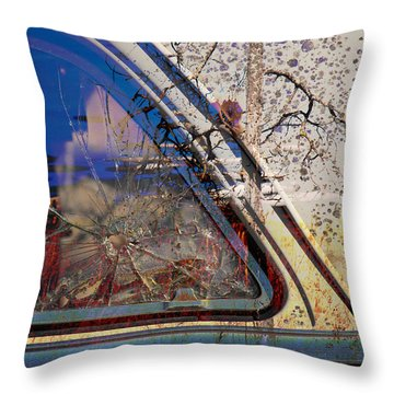 Passenger Side Ride Guild  Throw Pillow by Jerry Cordeiro