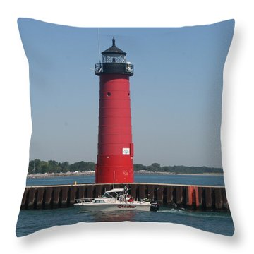 Throw Pillow featuring the photograph Passing By by Kay Novy