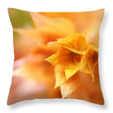 Passion For Flowers. Orange Delight Throw Pillow by Jenny Rainbow