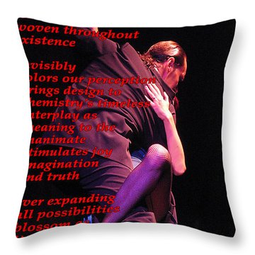 Passion Throw Pillow by Richard Donin