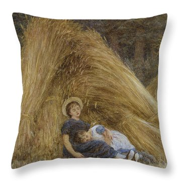 Past Work Throw Pillow by Helen Allingham