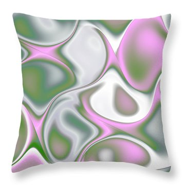 Pastel Colored Teardrop Fractal Throw Pillow by Gina Lee Manley