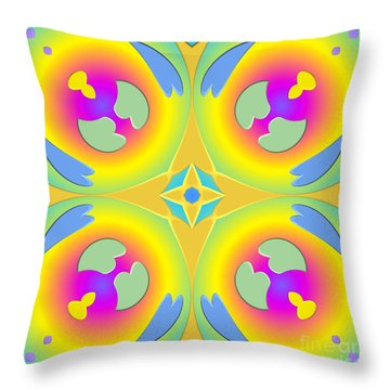 Pastel Hearts Warp 2 Throw Pillow by Rose Santuci-Sofranko