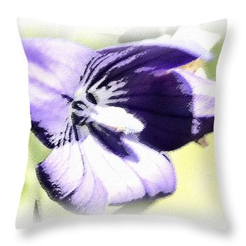 Pastel Iris Throw Pillow by Susan Leggett