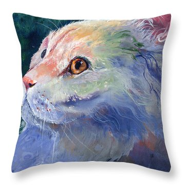 Pastel Persian Throw Pillow by Sherry Shipley