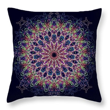 Pastel Pop Mandala Throw Pillow