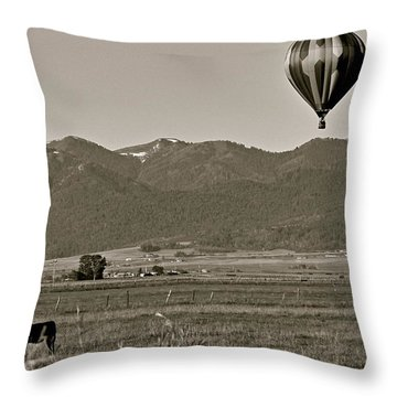 Throw Pillow featuring the photograph Pastoral Surprise by Eric Tressler