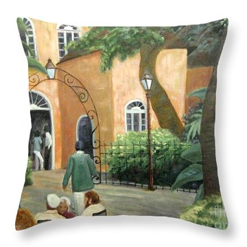 Pat O Brian's Restaurant Throw Pillow