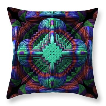 Patchwork Throw Pillow by Lyle Hatch