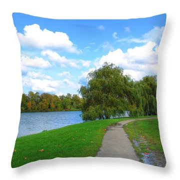 Throw Pillow featuring the photograph Path by Michael Frank Jr
