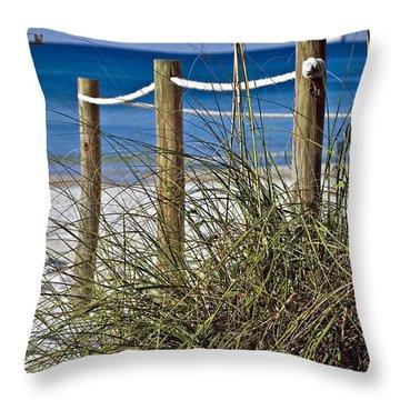 Throw Pillow featuring the photograph Path To The Beach by Susan Leggett