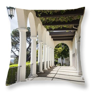 Throw Pillow featuring the photograph Path To The Gardens by Marta Cavazos-Hernandez