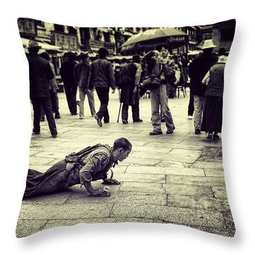 Pathway To Awakening Throw Pillow by Joan Carroll