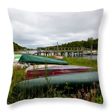 Patiently Waiting Throw Pillow by Michelle Wiarda