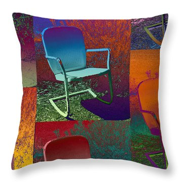 Throw Pillow featuring the photograph Patio Chair by David Pantuso
