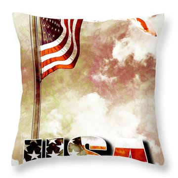 Patriotism The American Way Throw Pillow by Phill Petrovic