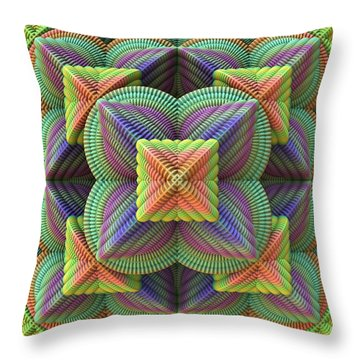 Pattern Pyramid Throw Pillow by Lyle Hatch